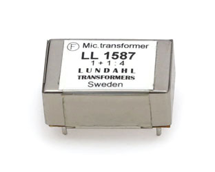 LUNDAHL LL1587 TRANSFORMER Analogue audio, PCB, microphone input