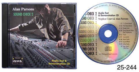 SOUNDCHECK 2 TEST AND DEMONSTRATION CD Alan Parsons