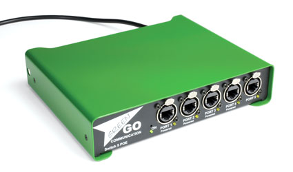 GREEN-GO GGO-SW5 POE ETHERNET SWITCH 5 ports, ethercon connection