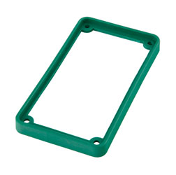 TECPRO Spare bezel for BP1 series beltpack, green