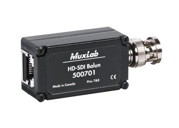 MUXLAB 500701 BALUN HD-SDI video, over Cat5E/6, 45m reach, 1x male BNC