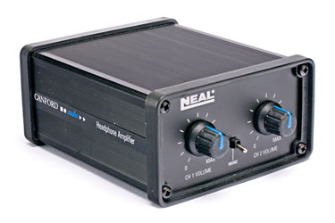 NEAL PC HEADPHONE AMPLIFIER A-gauge and 3.5mm, 2 channel, mono switch