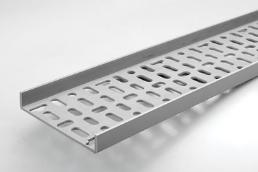 CANFORD PLASTIC CABLE TRAY 180mm, 2 metre length, grey