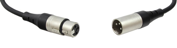 REAN CABLE XLR 3-pin female to XLR 3-pin male, overmoulded, 500mm, black