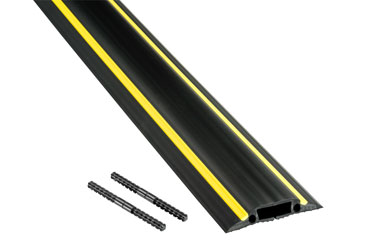 D-LINE FC83H MEDIUM DUTY FLOOR CABLE PROTECTOR 1-channel, 1800x83x14mm, black/yellow