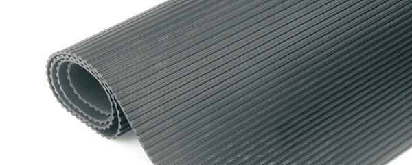 RUBBER MATTING Fine fluted, 915mm wide
