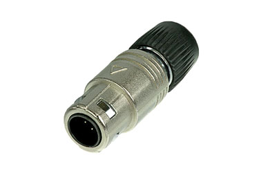 NEUTRIK OSC8M-NI NEUTRICON Cable plug, nickel, with insert and NEUTRICON Male solder contacts