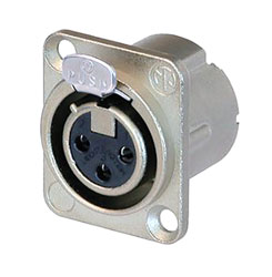 NEUTRIK NC3FD-LX-HE XLR Female panel connector, velour-chromium shell, silver contacts