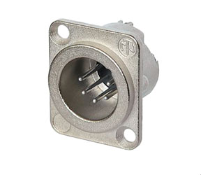 NEUTRIK NC6MD-LX XLR Male panel connector, nickel shell, silver contacts