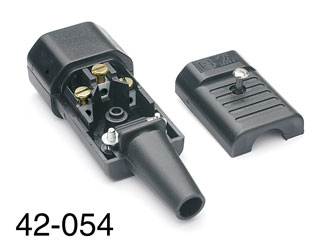 SCHURTER AC MAINS POWER CONNECTOR, IEC Male, cable