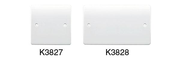 Mk K3827whi Blank Plate Single