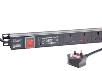 CANFORD PDU Economy, vertical, 12-way, UK, surge protected