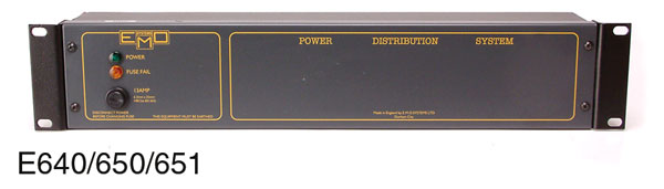 EMO E640 POWER DISTRIBUTION PANEL
