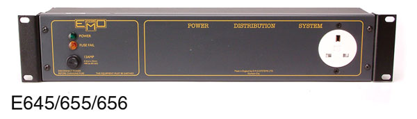 EMO POWER DISTRIBUTION PANEL E645