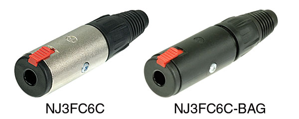 NEUTRIK NJ3FC6 JACK SOCKET In-line