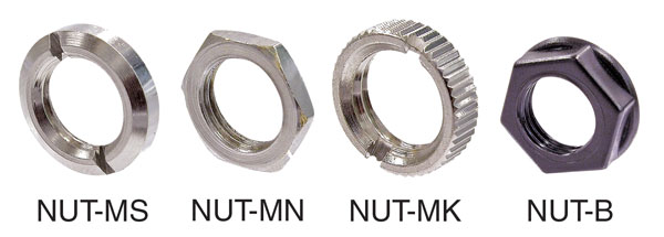 NEUTRIK NRJ-NUT-MK Nickel plated metal ring nut, knurled