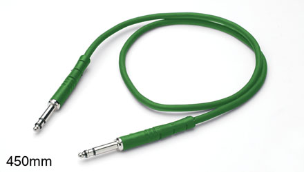 REAN BANTAM PATCHCORD Moulded, heli screen, economy, 450mm Green
