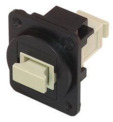 TUK D-SERIES KEYSTONE FIBRE COUPLER SC to SC, multi mode, simplex, black/beige