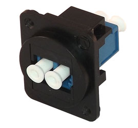 TUK D-SERIES KEYSTONE FIBRE COUPLER LC to LC, single mode, duplex, black/blue