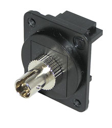 TUK D-SERIES KEYSTONE FIBRE COUPLER ST to ST, multi mode, simplex, black/black