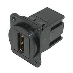 TUK D-SERIES KEYSTONE COUPLER HDMI female to female, black