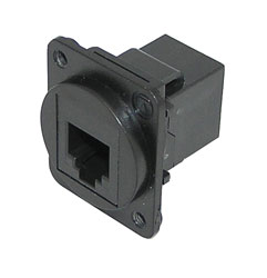 TUK D-SERIES KEYSTONE COUPLER RJ12 6P6C female to female, black
