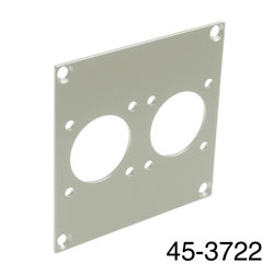 CANFORD UNIVERSAL MODULAR CONNECTION PLATE 2x MIL26, grey