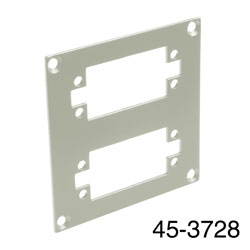 CANFORD UNIVERSAL MODULAR CONNECTION PLATE 2x EDAC38, grey