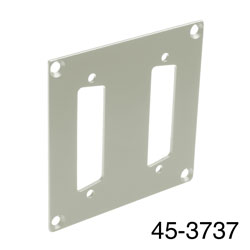 CANFORD UNIVERSAL MODULAR CONNECTION PLATE 2x D-sub25, grey