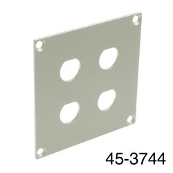 CANFORD UNIVERSAL MODULAR CONNECTION PLATE 4x BNC, grey