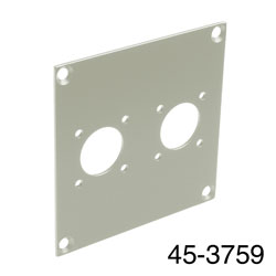 CANFORD UNIVERSAL MODULAR CONNECTION PLATE 2x N type, grey