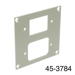 CANFORD UNIVERSAL MODULAR CONNECTION PLATE 1x IEC female, 1x male, grey