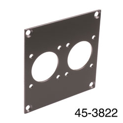 CANFORD UNIVERSAL MODULAR CONNECTION PLATE 2x MIL26, dark grey