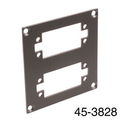 CANFORD UNIVERSAL MODULAR CONNECTION PLATE 2x EDAC38, dark grey