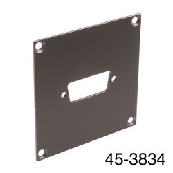 CANFORD UNIVERSAL MODULAR CONNECTION PLATE 1x D-sub15, dark grey