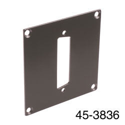 CANFORD UNIVERSAL MODULAR CONNECTION PLATE 1x D-sub25, dark grey