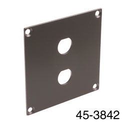 CANFORD UNIVERSAL MODULAR CONNECTION PLATE 2x BNC, dark grey