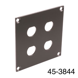 CANFORD UNIVERSAL MODULAR CONNECTION PLATE 4x BNC, dark grey