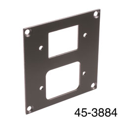 CANFORD UNIVERSAL MODULAR CONNECTION PLATE 1x IEC female, 1x male, dark grey