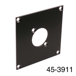 CANFORD UNIVERSAL MODULAR CONNECTION PLATE 1x universal connector, black