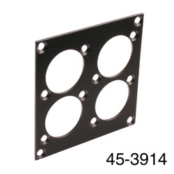 CANFORD UNIVERSAL MODULAR CONNECTION PLATE 4x universal connectors, black