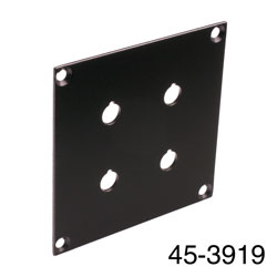 CANFORD UNIVERSAL MODULAR CONNECTION PLATE 2x pairs Binding posts, black