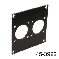 CANFORD UNIVERSAL MODULAR CONNECTION PLATE 2x MIL26, black
