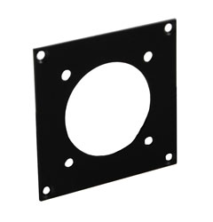 CANFORD UNIVERSAL MODULAR CONNECTION PLATE 1x Tourline37, black