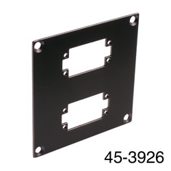 CANFORD UNIVERSAL MODULAR CONNECTION PLATE 2x EDAC20, black