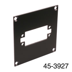 CANFORD UNIVERSAL MODULAR CONNECTION PLATE 1x EDAC38, black