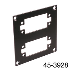 CANFORD UNIVERSAL MODULAR CONNECTION PLATE 2x EDAC38, black