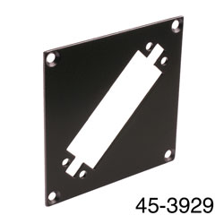 CANFORD UNIVERSAL MODULAR CONNECTION PLATE 1x EDAC56, black