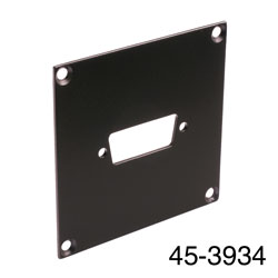 CANFORD UNIVERSAL MODULAR CONNECTION PLATE 1x D-sub15, black