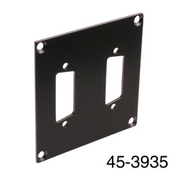 CANFORD UNIVERSAL MODULAR CONNECTION PLATE 2x D-sub15, black